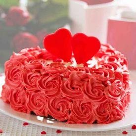 Flower Design Heart shape cake